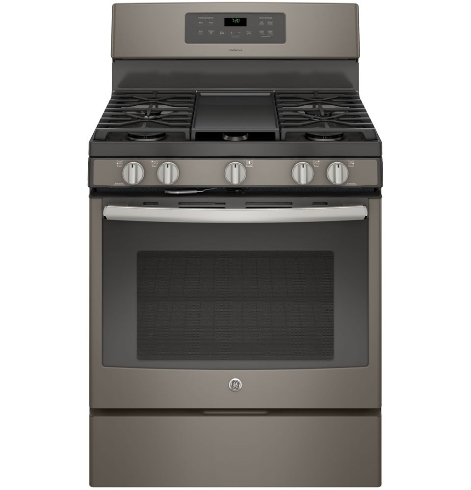 5.0 cu. ft. Free-Standing Convection Self-Cleaning Gas Range in Slate