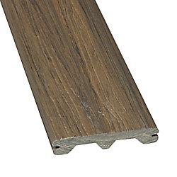 Veranda Planche pour terrasse Veranda, 1 po x 5 1/4 po x 12 pi, composite rainurée, gris Panama
