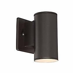 Home Decorators Collection Morrilton 40W 1-Light Satin Bronze Integrated LED Outdoor Wall Lantern - ENERGY STAR®