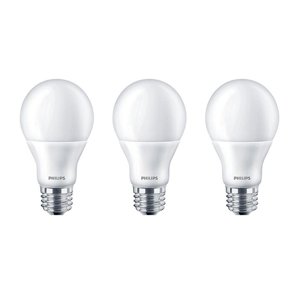 Lampe de menage  A19 DEL 60 W   Lumière du jour  (5 000 K) - 3 paq.