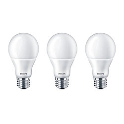 Philips LED 60W A19 Daylight 5000K - (3-Pack) - ENERGY STAR
