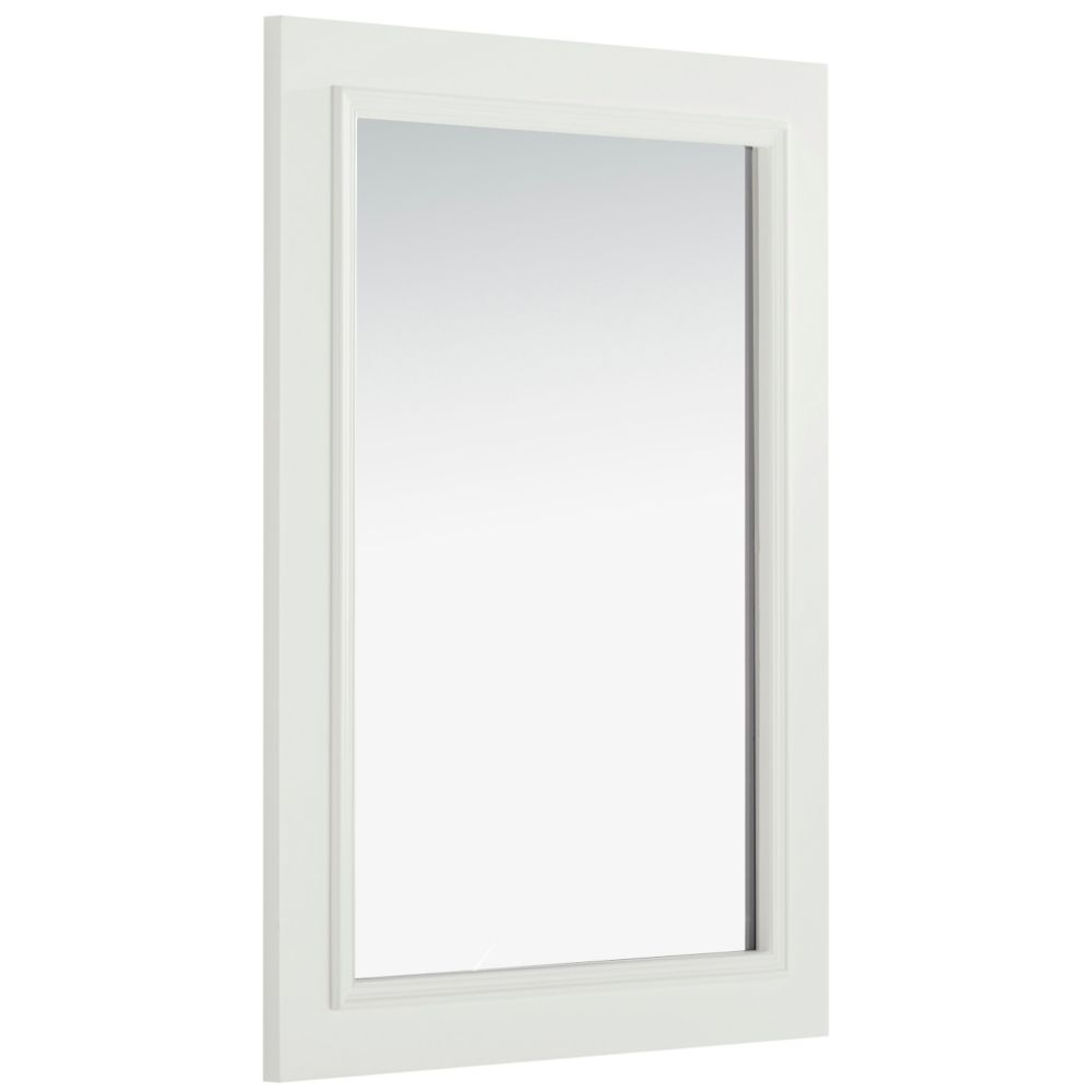 Cambridge 30-inch L x 22-inch W Wall Mounted Vanity Decor Mirror in Soft White