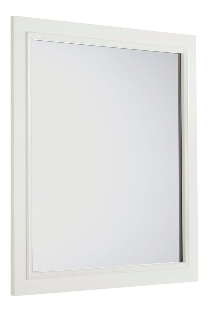 Cambridge 34-inch L x 32-inch W Wall Mounted Vanity Decor Mirror in Soft White