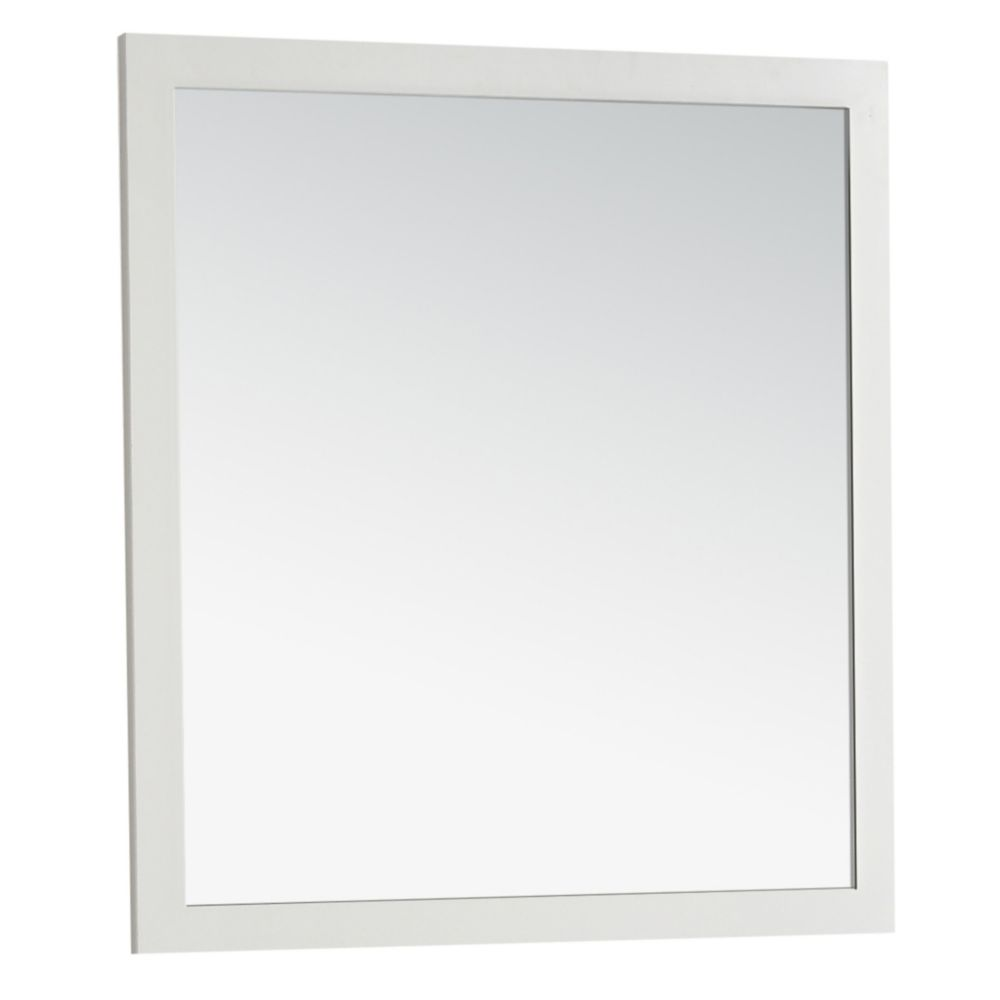 Cape Cod Large 32 Inch  x 34 Inch  Soft White Bath Vanity Décor Mirror