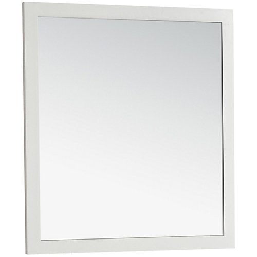 Chelsea 34-inch L x 32-inch W Wall Mounted Decor Vanity Mirror in Soft White