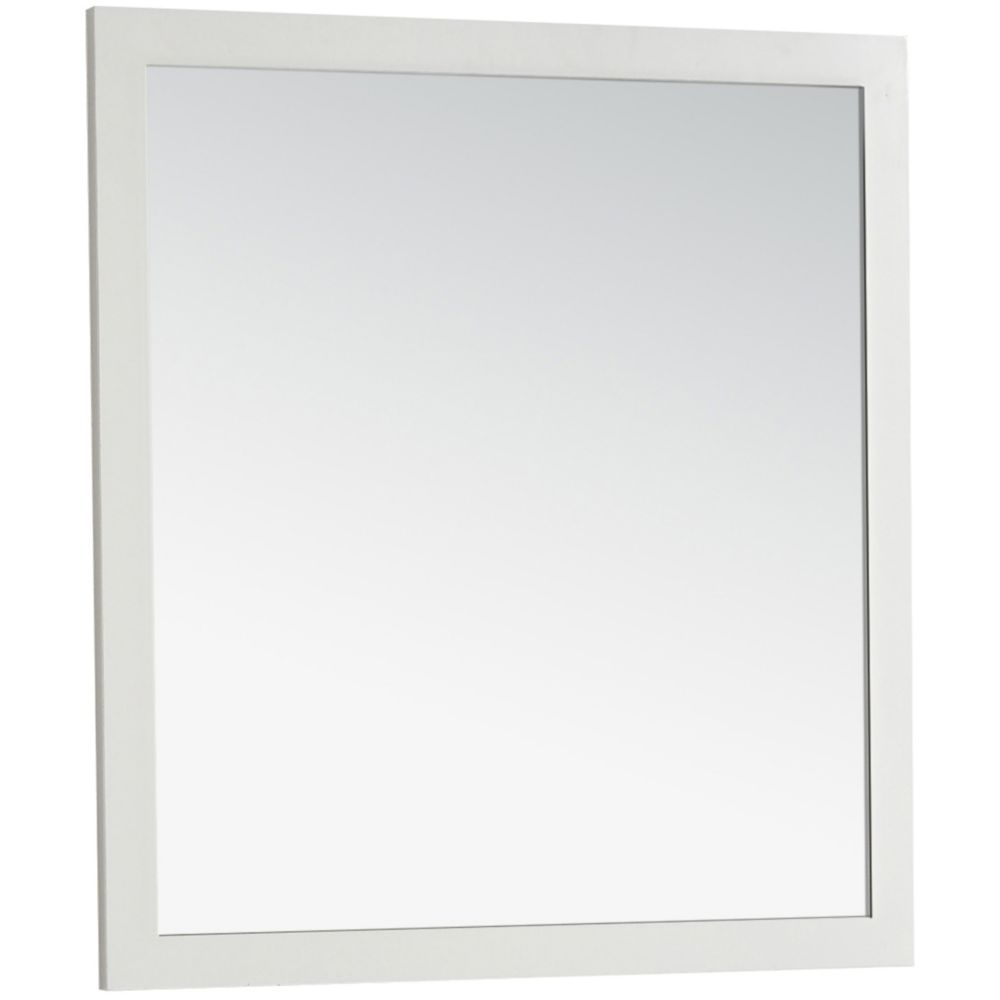 Chelsea 32 Inch  x 34 Inch  Soft White Large Bath Vanity Décor Mirror