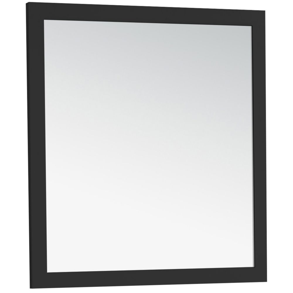 Chelsea 32 Inch  x 34 Inch  Black Large Bath Vanity Décor Mirror