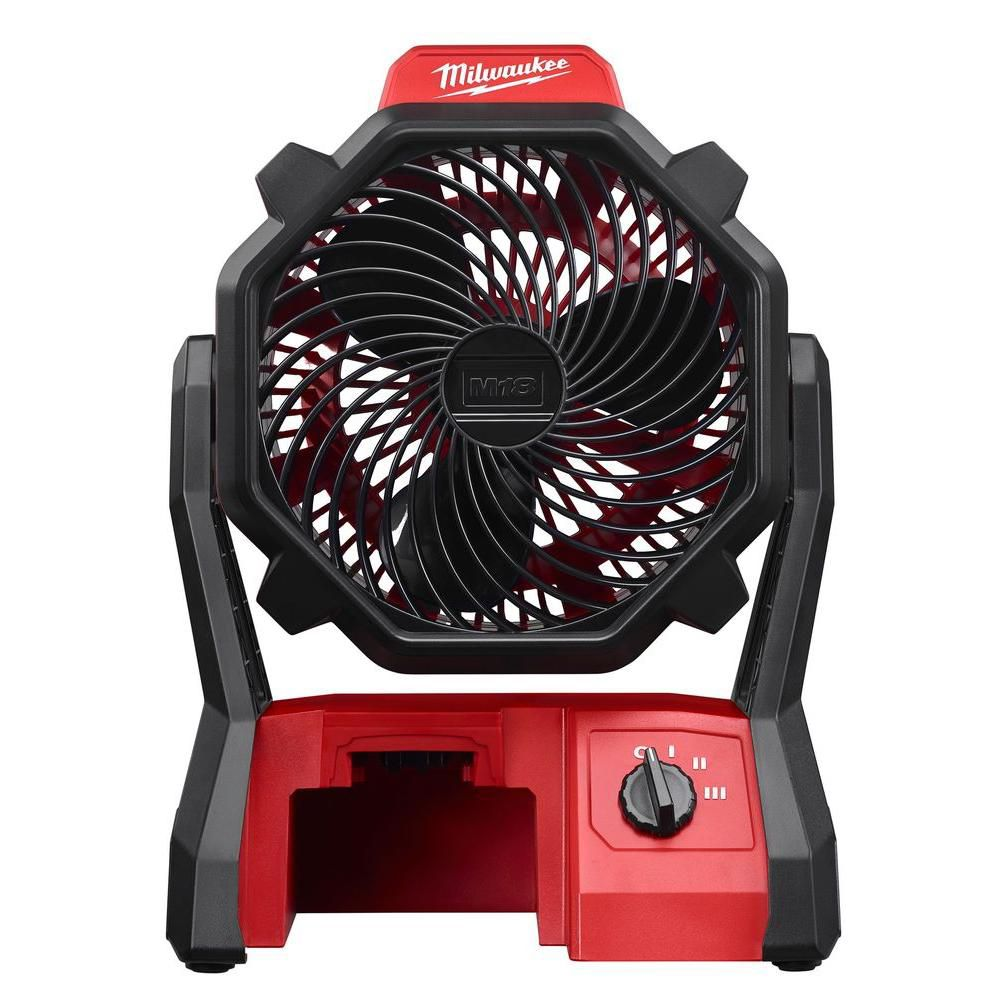 Milwaukee Tool M18 18-Volt Lithium-Ion Cordless Jobsite Fan (Tool-Only)