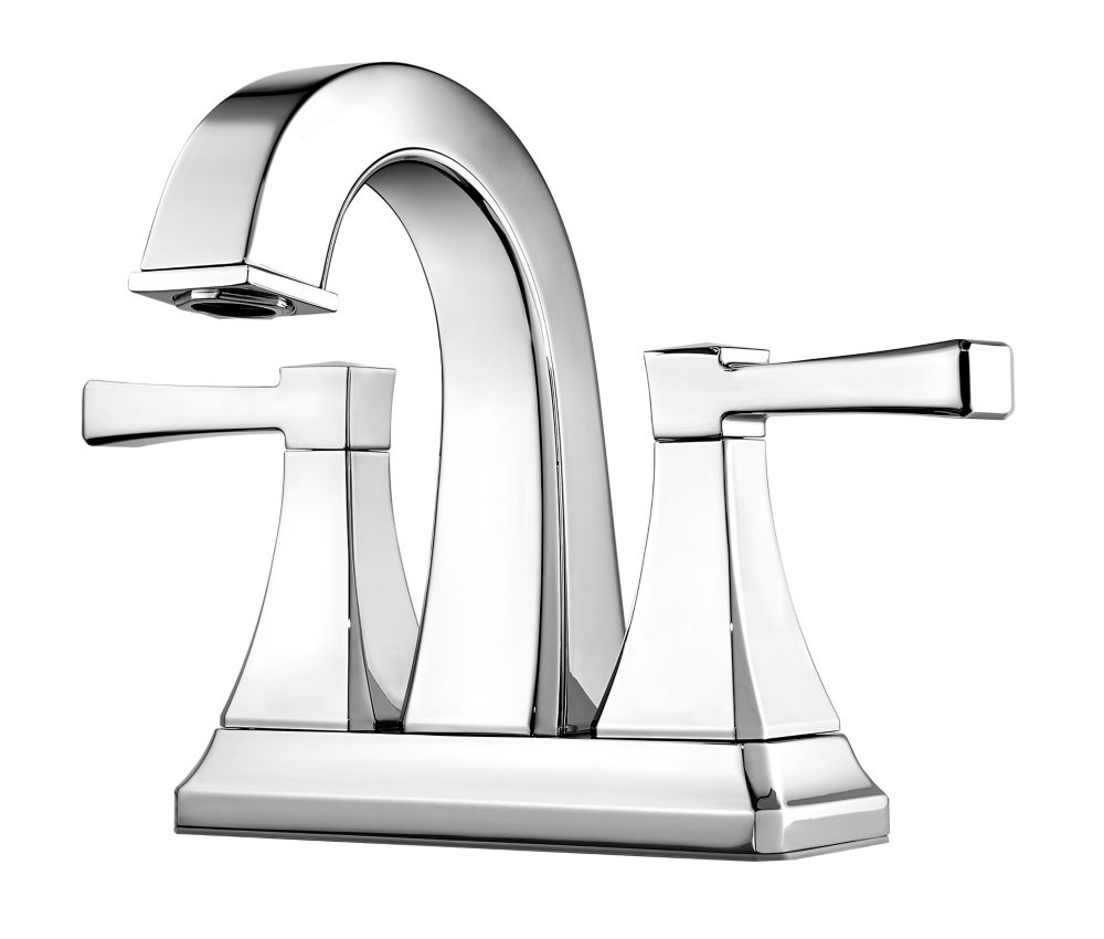 Halifax 4-inch Centreset 2-Handle Bathroom Faucet in Polished Chrome