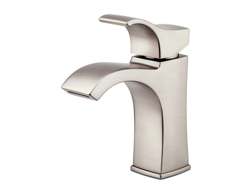 Venturi 4-inch Centreset Single-Control Bathroom Faucet in Brushed Nickel Finish