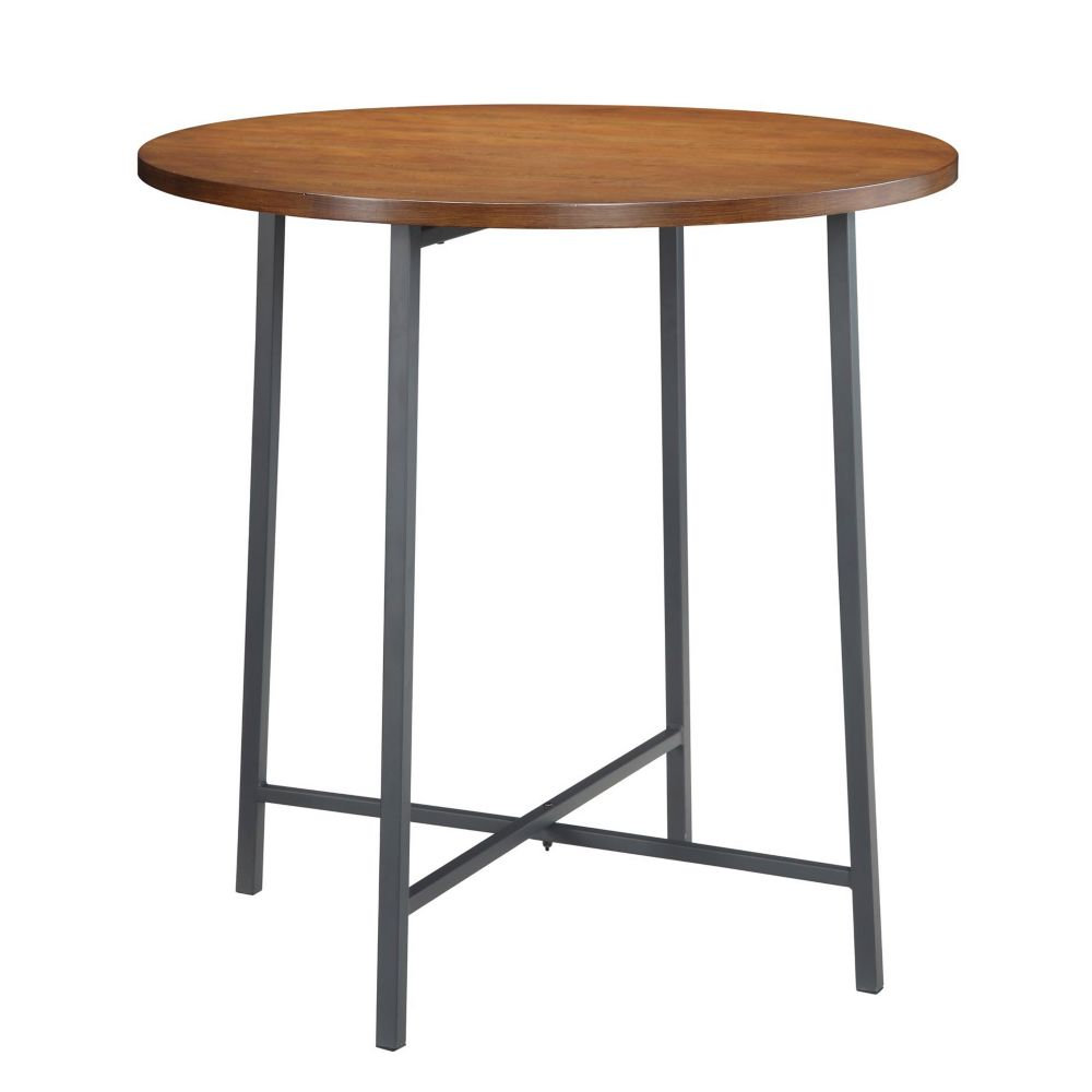 carolina forge berkshire 36 inch round bar table the. Black Bedroom Furniture Sets. Home Design Ideas