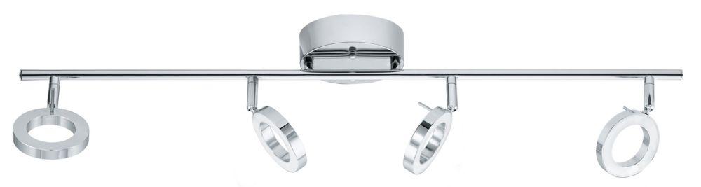 Naudella Luminaire sur Rail DEL 4L, Fini Chrome