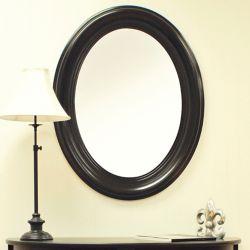 Carolina Classics Miroir ovale, noir ancien
