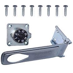 6-Inch Zinc Plated Combination Locking Hasp - 1pk