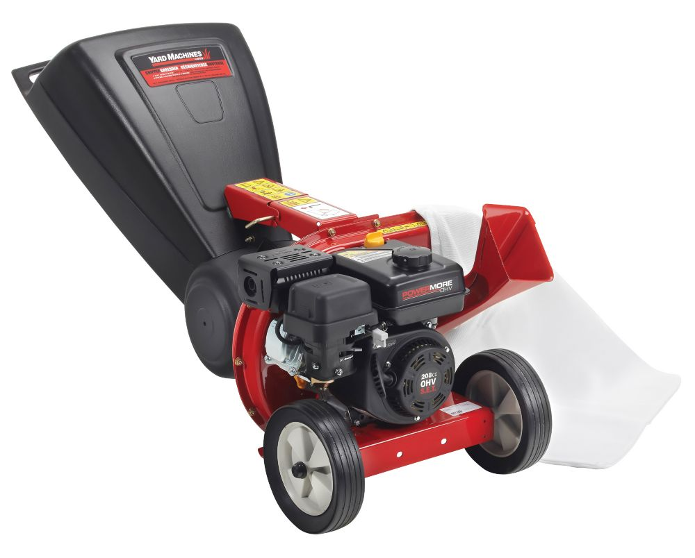 Yard Machines Tip Down Chipper Shredder