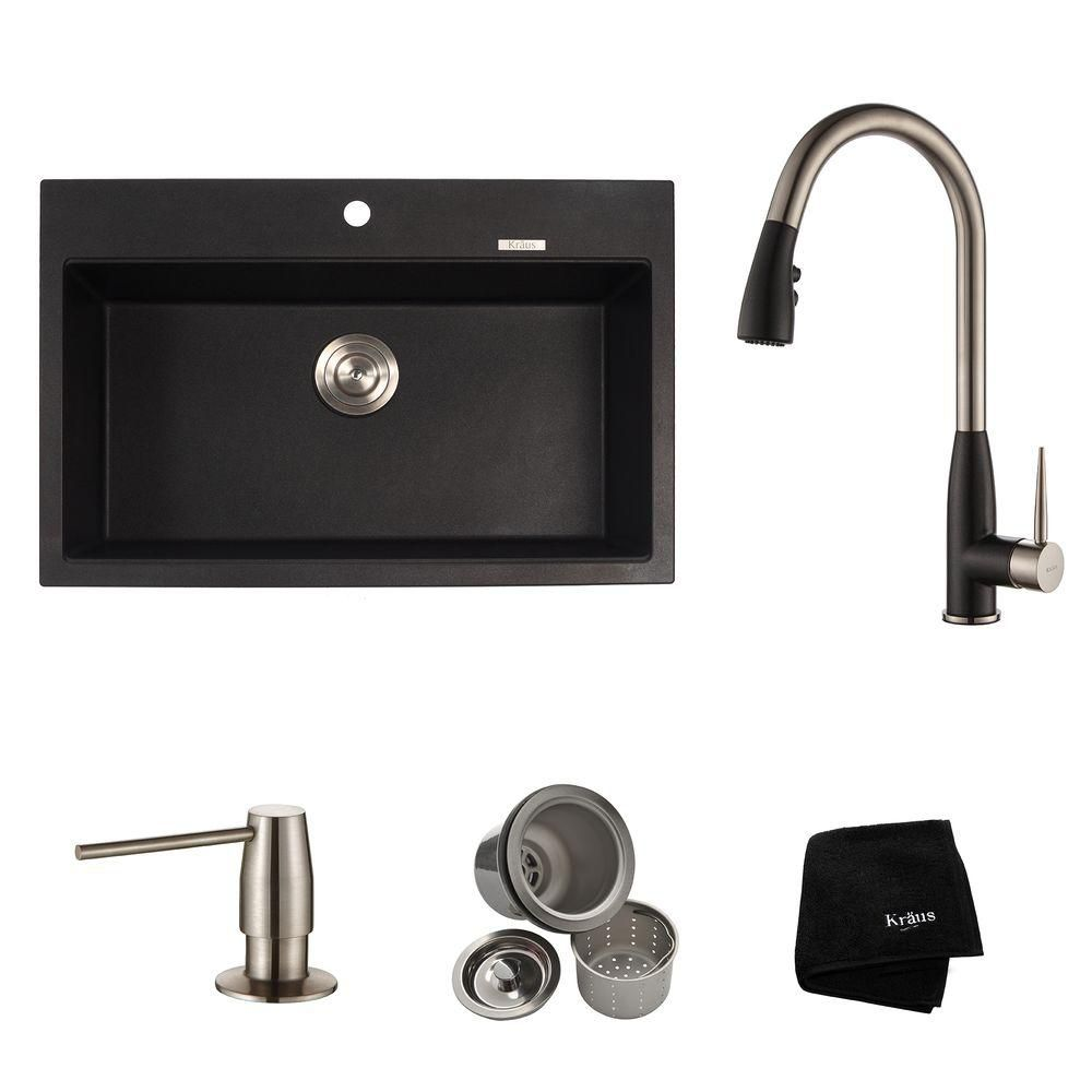 31.2 Inch.  Dual Mount Single Bowl Sink W/ Pull Down Faucet & SD Stainless Steel