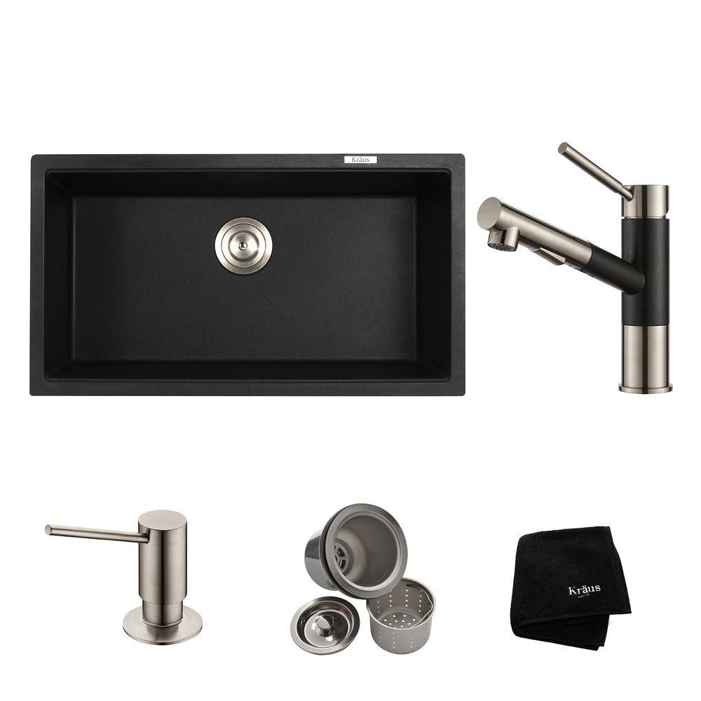 31 Inch.  Dual Mount Single Bowl Sink W/ Pull Out Faucet & SD Stainless Steel