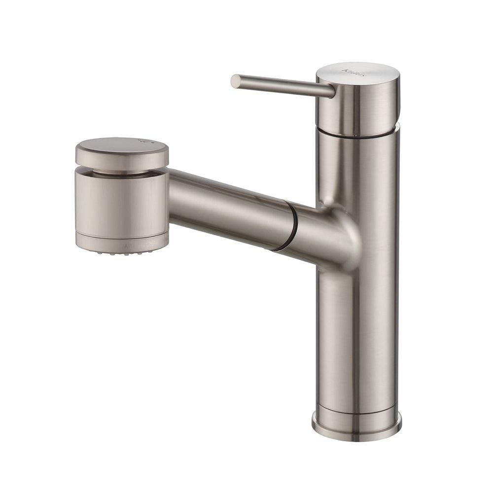 MateoSingle Lever Pull Out Kitchen Faucet Stainless Steel KPF-2610SS in Canada