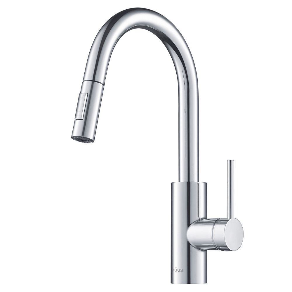 MateoSingle Lever Pull Down Kitchen Faucet Chrome