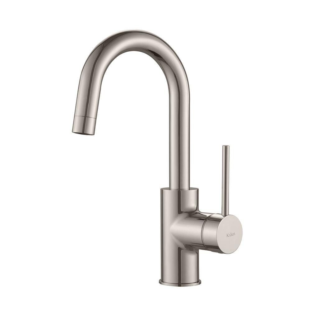 MateoSingle Lever Kitchen Bar Faucet Stainless Steel
