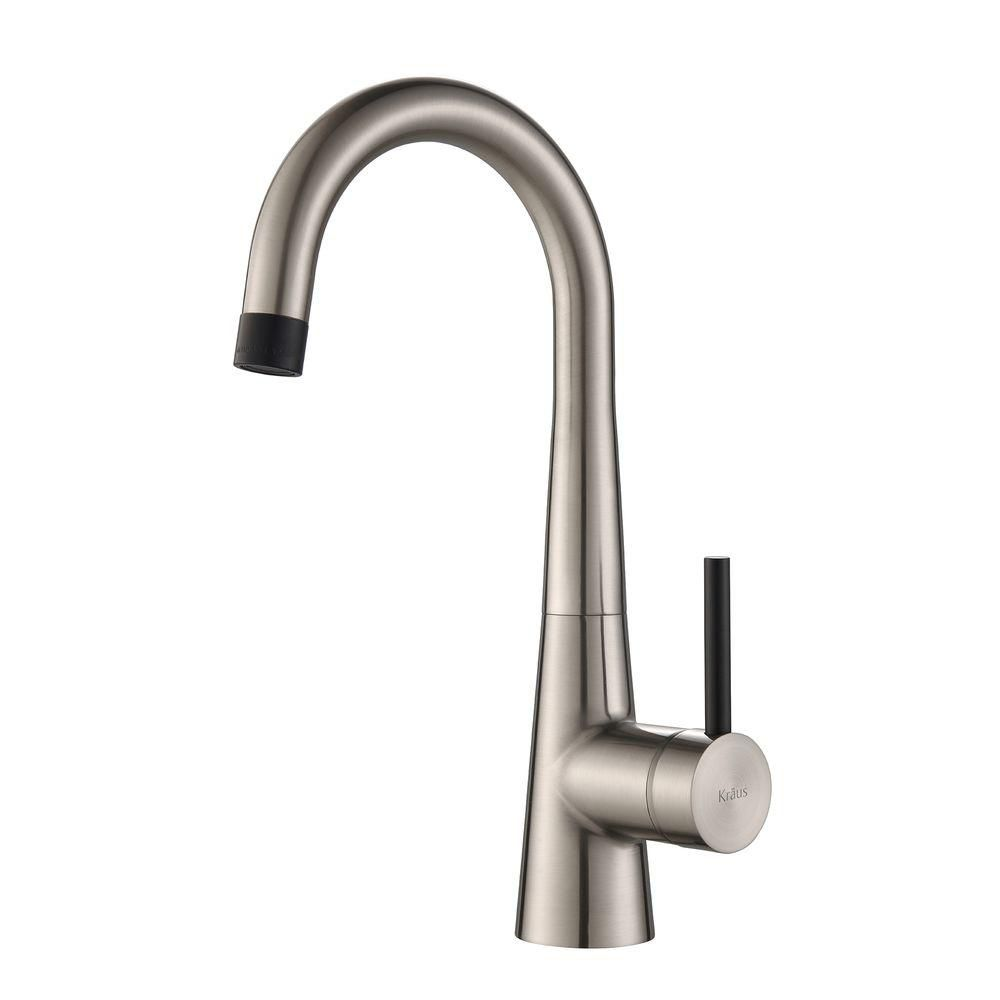 CrespoSingle Lever Kitchen Bar Faucet Stainless Steel