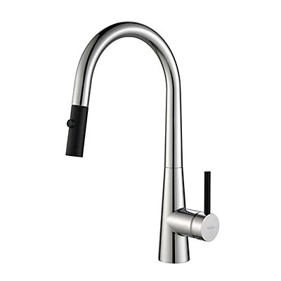 Kraus CrespoSingle Lever Pull Down Kitchen Faucet Chrome | The Home ...