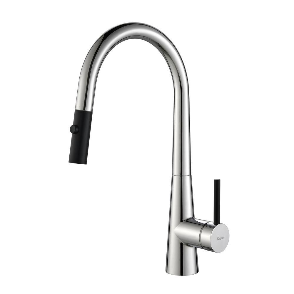 CrespoSingle Lever Pull Down Kitchen Faucet Chrome