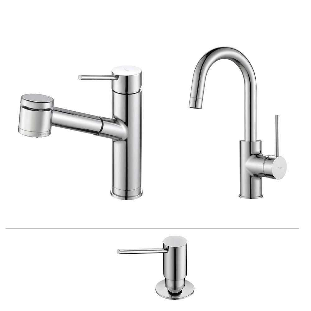 Mateo Pull Out Kitchen Faucet With Bar/Prep Faucet & SD