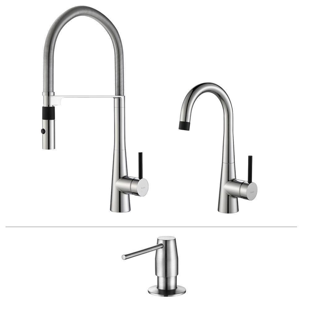 Crespo Flex Commercial Style Kitchen & Bar/Prep Faucet W/ SD