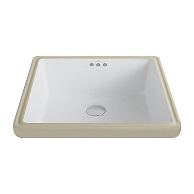 Kraus Elavo Ceramic Square Undermount Bathroom Sink with Overflow in on square bathroom sinks with faucet, kohler drop-in sinks, square above counter sinks, blanco undermount granite composite sinks, types of undermount sinks, square stainless sink, undermount kitchen sinks, square modern bathroom sinks, drop in stainless steel kitchen sinks, solid surface undermount sinks, 16-gauge stainless steel sinks, ceramic kitchen sinks, solid surface kitchen sinks, square porcelain sink, small kitchen sinks, double kitchen sinks, square copper bathroom sink, square sink vanities, american standard kitchen sinks, very small undermount sinks,