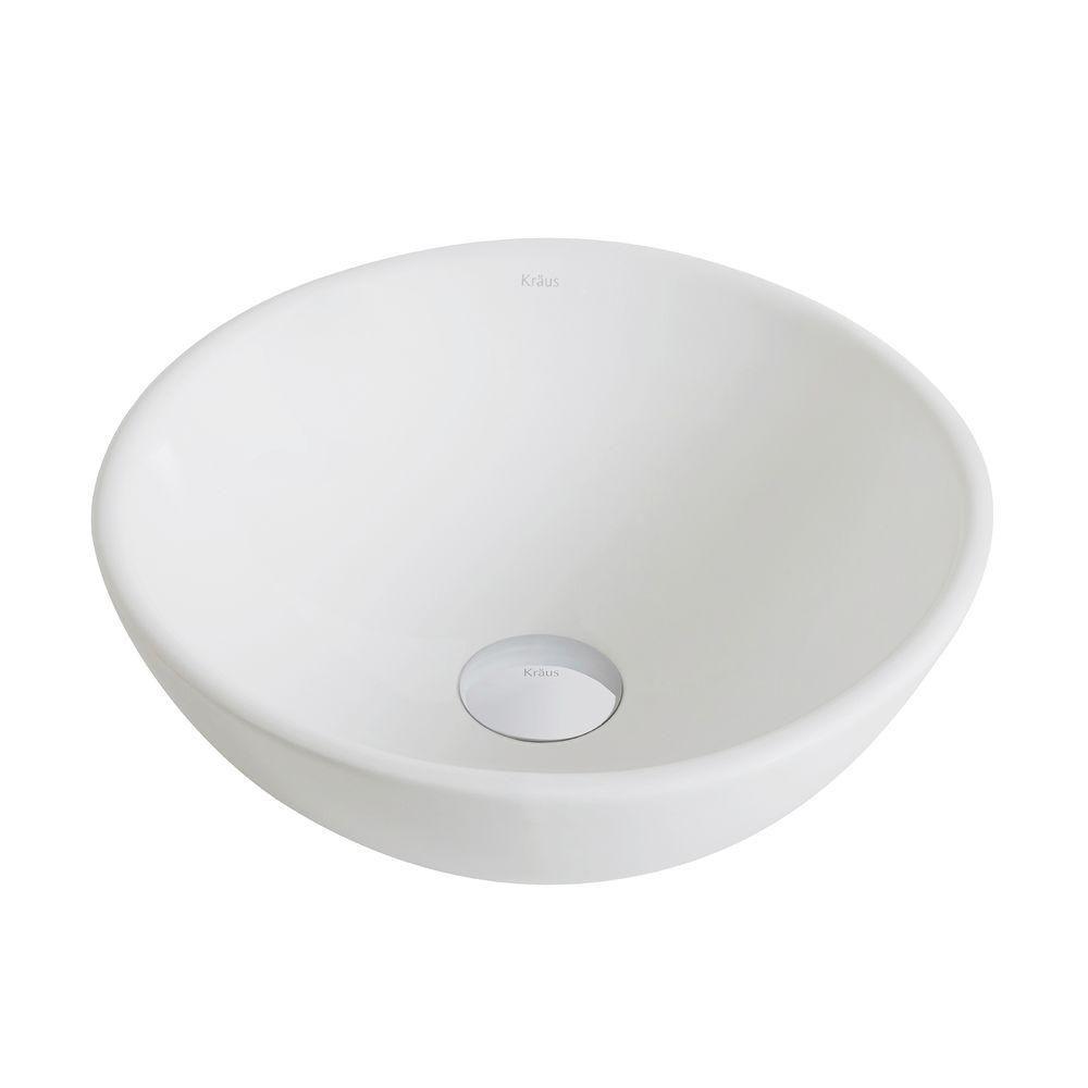 Petite vasque salle de bains ronde céramique blanche Elavo�