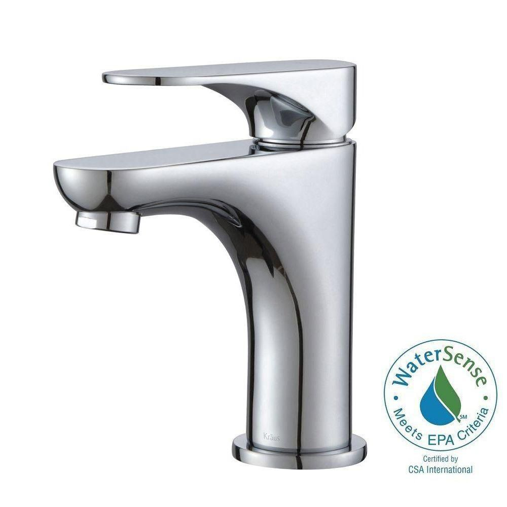 Aquila Single-Lever Basin Bathroom Faucet in Chrome Finish