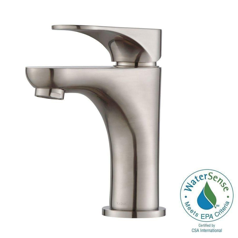 Aquila Single-Lever Basin Bathroom Faucet in Brushed Nickel Finish