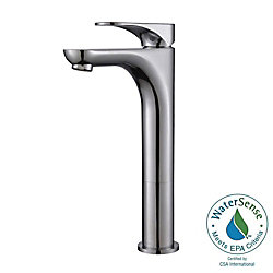 Kraus Aquila Single Hole 1-Handle High Arc Bathroom Faucet in Chrome with Lever Handle