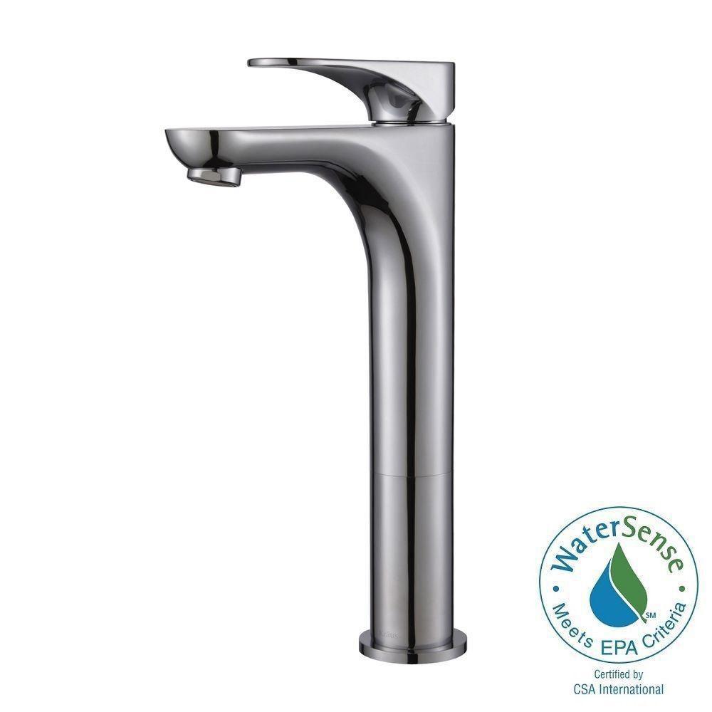 Aquila Single-Lever Vessel Bathroom Faucet in Chrome Finish