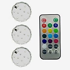 Colour Changing LED Puck Light 3 Pack