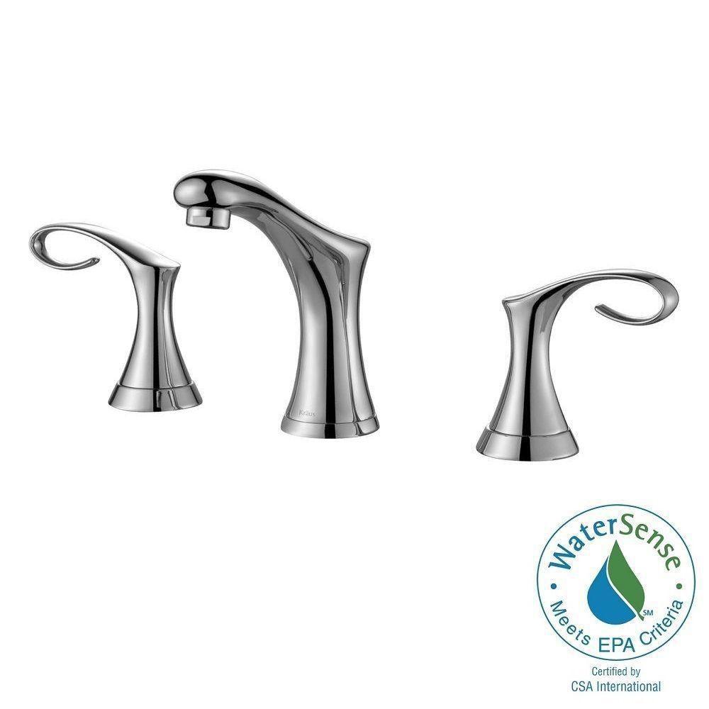 Robinet de salle de bain de 8 po/20,3 cm à large portée Cirrus - fini de chrome