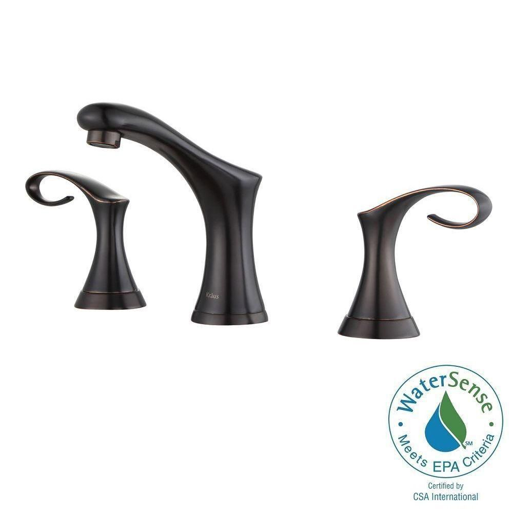 Cirrus 8-inch Widespread 2-Handle Bathroom Faucet in Oil Rubbed Bronze Finish