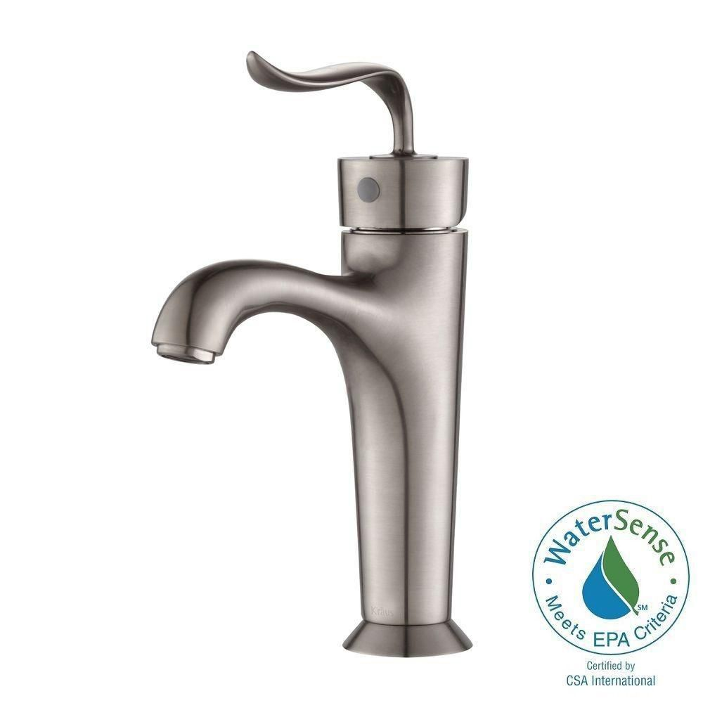 Coda Single-Lever Basin Bathroom Faucet in Brushed Nickel Finish
