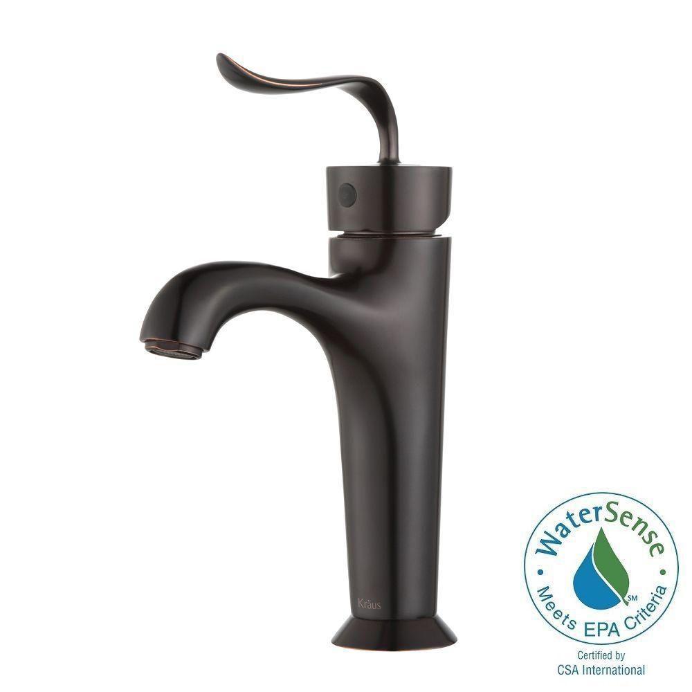 Robinet de salle de bain à bassin avec levier unique Coda - fini de bronze brossé