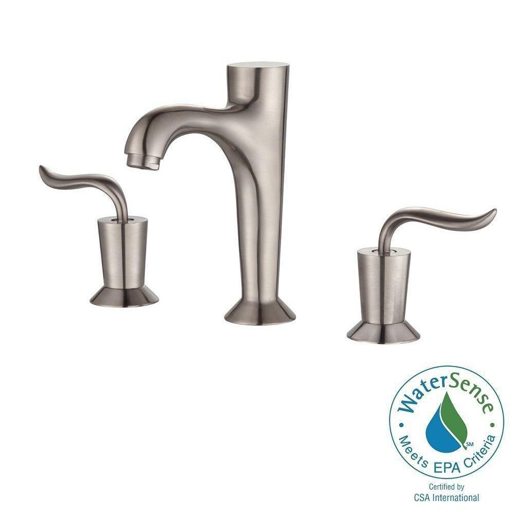 Coda 8-inch Widespread 2-Handle Bathroom Faucet in Brushed Nickel Finish