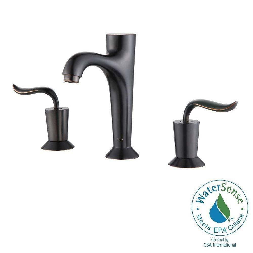 Coda 8-inch Widespread 2-Handle Bathroom Faucet in Oil Rubbed Bronze Finish