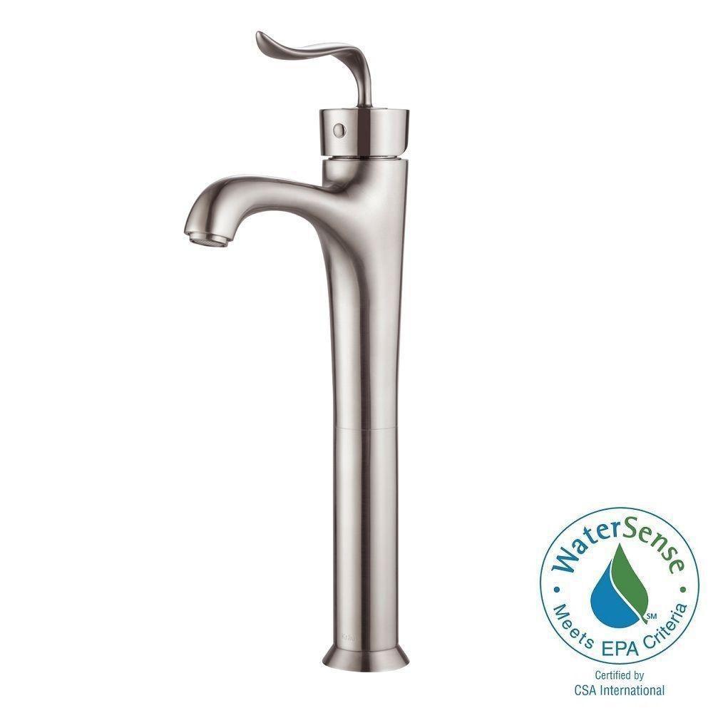 Coda Single-Lever Vessel Bathroom Faucet in Brushed Nickel Finish