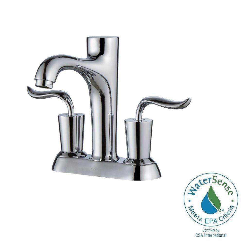 Coda 4-inch Centreset 2-Handle Bathroom Faucet in Chrome Finish