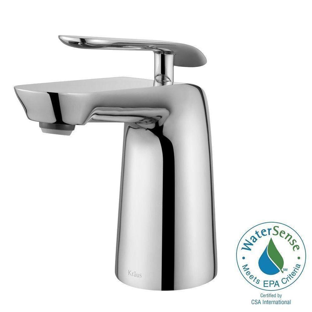 Seda Single-Lever Basin Bathroom Faucet in Chrome Finish