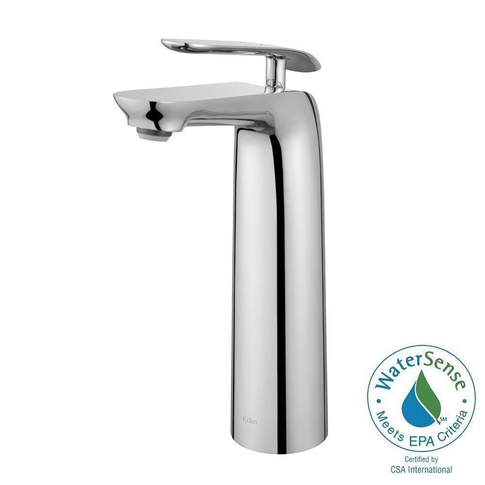Seda Single-Lever Vessel Bathroom Faucet in Chrome Finish
