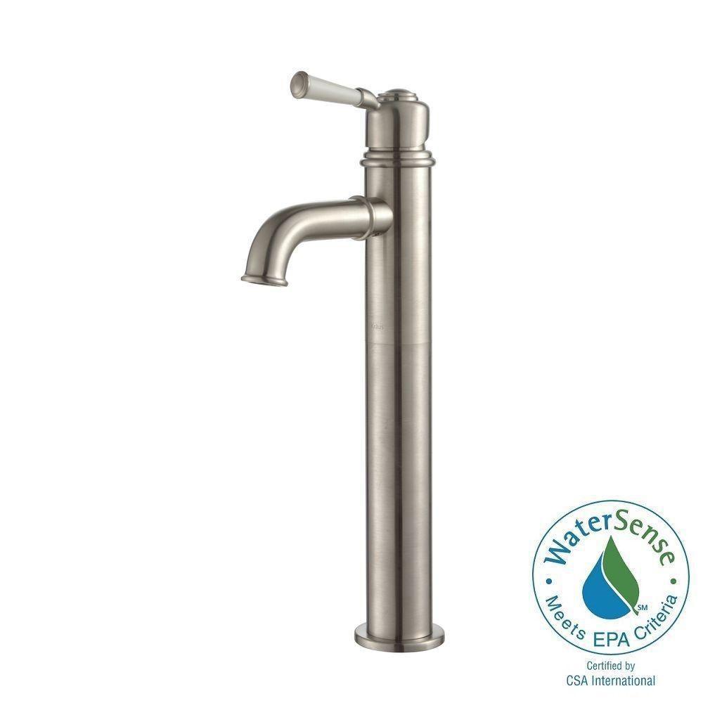 Solinder Single-Lever Vessel Bathroom Faucet in Brushed Nickel Finish
