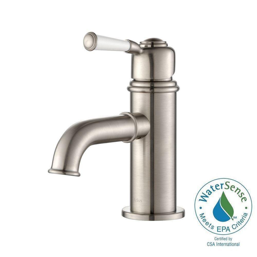 Solinder Single-Lever Basin Bathroom Faucet in Brushed Nickel Finish