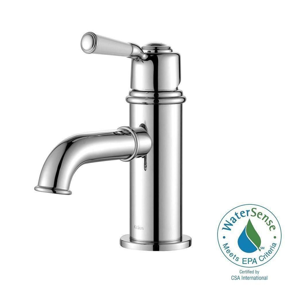 Solinder Single-Lever Basin Bathroom Faucet in Chrome Finish