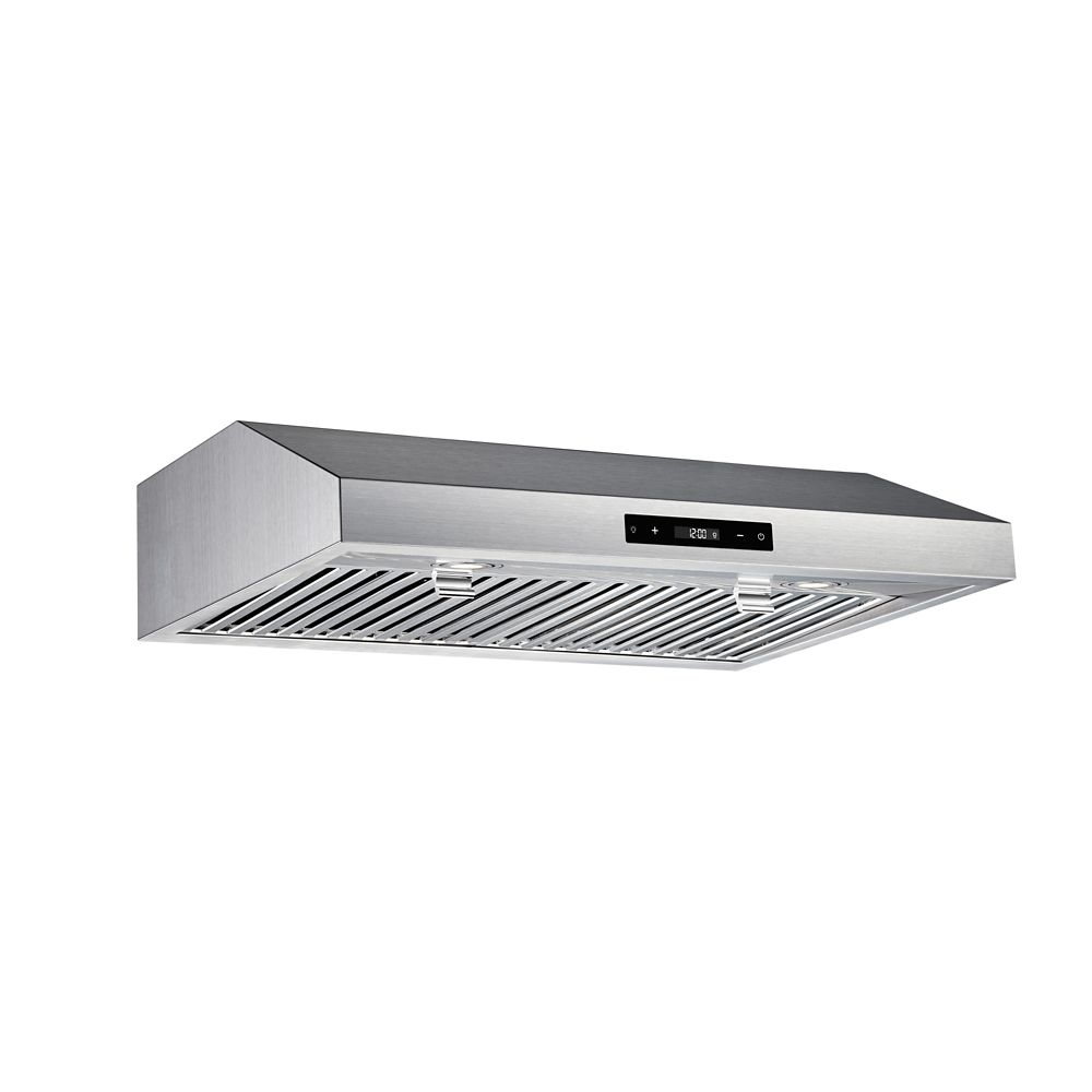 vissani 30 inch 460cfm under cabinet range hood in stainless steel the home depot canada. Black Bedroom Furniture Sets. Home Design Ideas